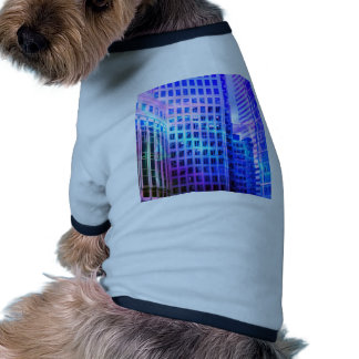 Windows azul camiseta con mangas para perro