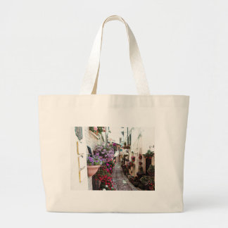 Windows, balcony and flower alleys in Spello Large Tote Bag