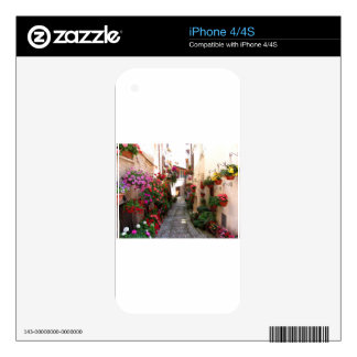 Windows, balcony and flower alleys iPhone 4S skin