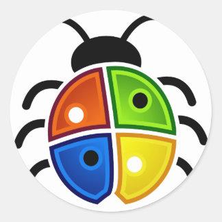 Windows_Bug Etiquetas Redondas
