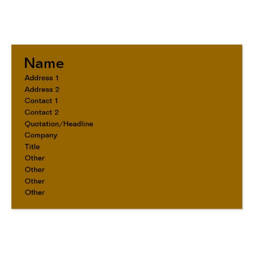 Windows Business Card Templates