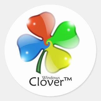 Windows Clover Edition Classic Round Sticker