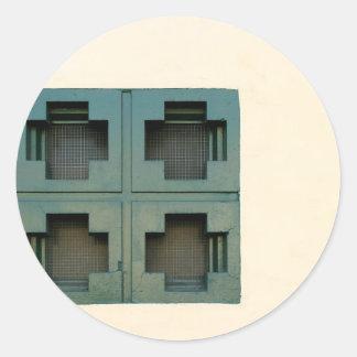 Windows cruzado pegatinas redondas