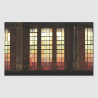 Windows de cristal coloreado en la alta línea rectangular pegatinas