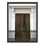 Windows de San Juan viejo, Puerto Rico Tarjeta Postal