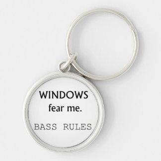 Windows Fear me Bass Rules Bass Guitar Design Keychain