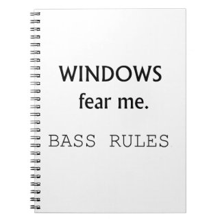 Windows Fear me Bass Rules Bass Guitar Design Notebook