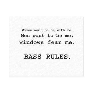 Windows Fear me Male Bass player version Canvas Print