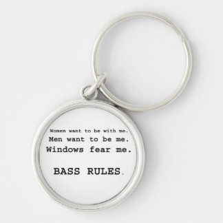 Windows Fear me Male Bass player version Keychains