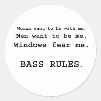 Windows Fear me Male Bass player version Sticker