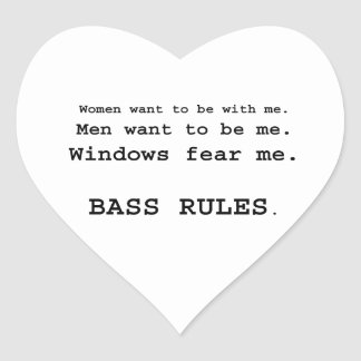 Windows Fear me Male Bass player version Stickers