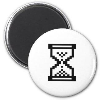 Windows-Hourglass 2 Inch Round Magnet