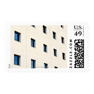 Windows in an office building postage