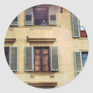 Windows in Italy Classic Round Sticker