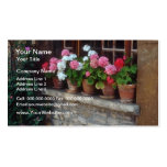 Windows In Perouges flowers Business Card