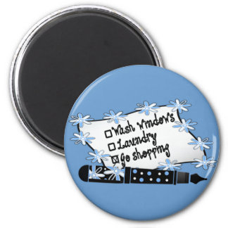 Windows, Laundry or Shopping! 2 Inch Round Magnet