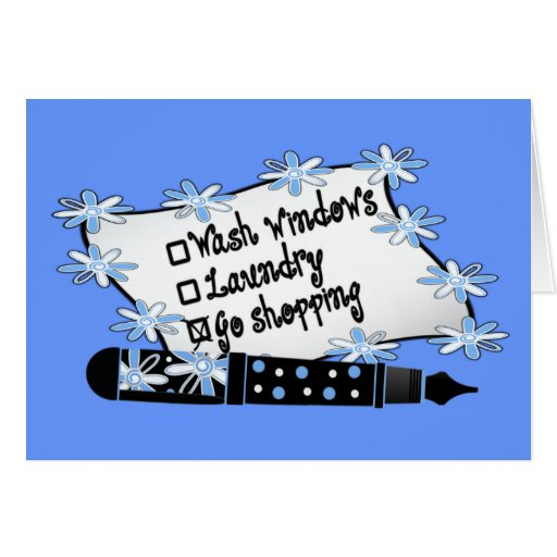 Windows, Laundry or Shopping! Card