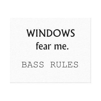 Windows me teme diseño de la guitarra baja de las  impresión de lienzo