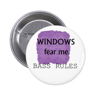 Windows me teme diseño de la guitarra baja de las  pin redondo de 2 pulgadas