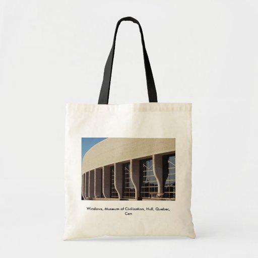 Windows, museo de la civilización, casco, Quebec,  Bolsa Lienzo