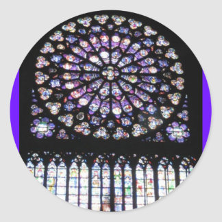 Windows of Notre Dame Classic Round Sticker