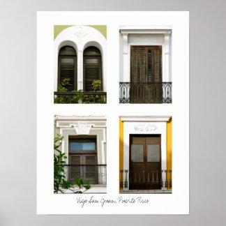 Windows Of Old San Juan, Puerto Rico Poster