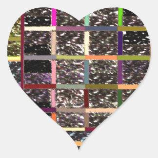 Windows of Opportunities - PEACE is GATEWAY Heart Sticker