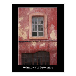 Windows of Provence Old Red Village House Postcard