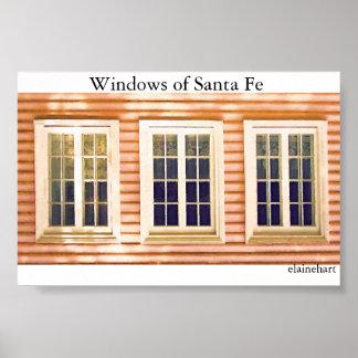 Windows of Santa Fe Poster