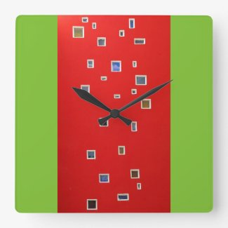 windows square wall clocks