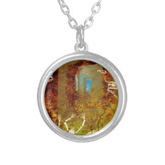 WINDOWS TO NOWHERE YET ALWAYS THE DESIRE SILVER PLATED NECKLACE
