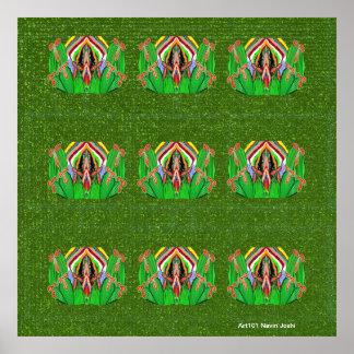 Windows verde - decoraciones del exterior del inte poster