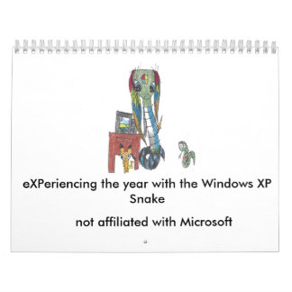 Windows XP Snake 2017 calendar