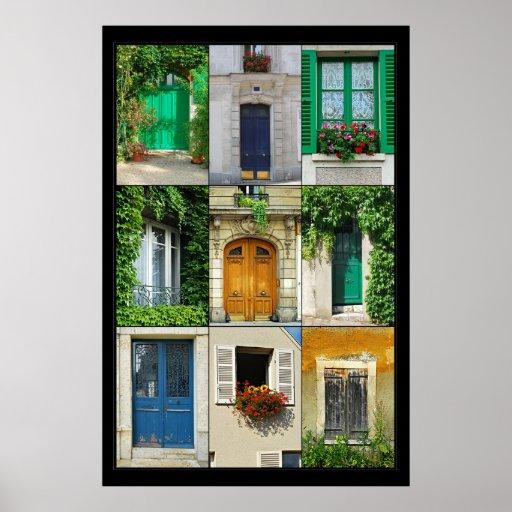 Windows y puertas de Francia Póster