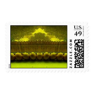 Windowsill del limón estampillas