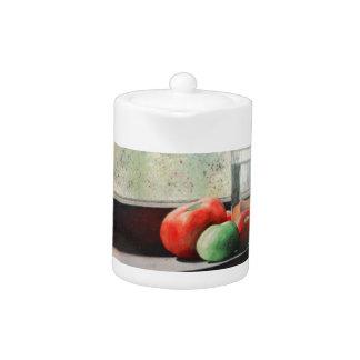Windowsill Tomatoes Teapot