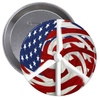 "Windpeace Button, 4"" 4 Inch Round Button"