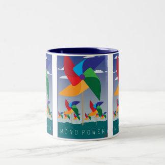 WindPower-Mug Two-Tone Coffee Mug