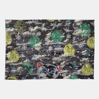 Winds niyanko castle cherry tree snowstorm hand towel