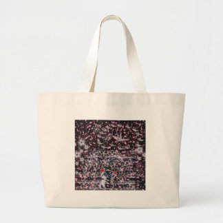 Winds niyanko castle cherry tree snowstorm large tote bag