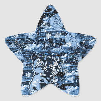Winds niyanko castle cherry tree snowstorm star sticker
