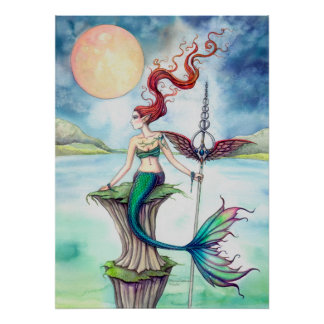 Winds of Ireland Fantasy Mermaid Art Posters