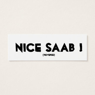 Windshield Cards, thin - Saab Fans from TX Mini Business Card