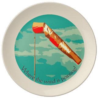 Windsock Dinner Plate