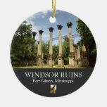 Windsor arruina el ornamento del navidad de la adorno redondo de cerámica