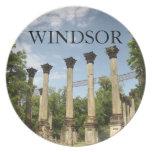 Windsor arruina Mississippi que cena la placa Plato De Cena