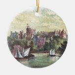 Windsor Castle Across the Thames Ceramic Ornament