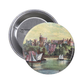 Windsor Castle Across the Thames Pinback Button