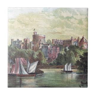 Windsor Castle Across the Thames Ceramic Tiles
