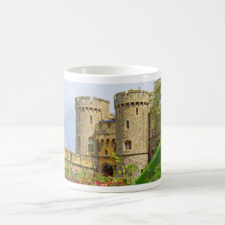 Windsor castle at spring time coffee mug